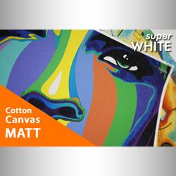 Bild von Cotton Canvas Super White matt