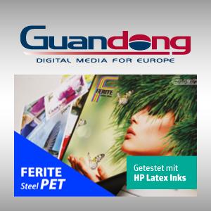 Bild von Ferite Steel Film PET für HP Latex
